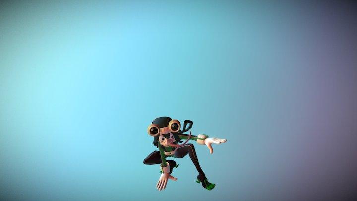 Asui Tsuyu - Hero Suit 3D Model