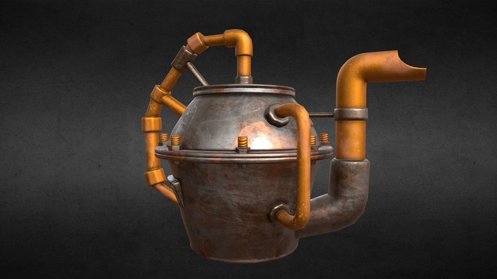 Burner - kettle - steampunk 3D Model