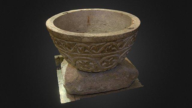 Fonte Battesimale in pietra 3D Model