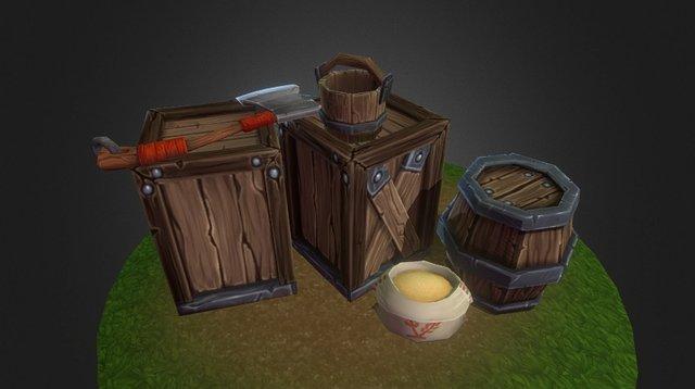 Lonely Hunter's Abobe Props 3D Model