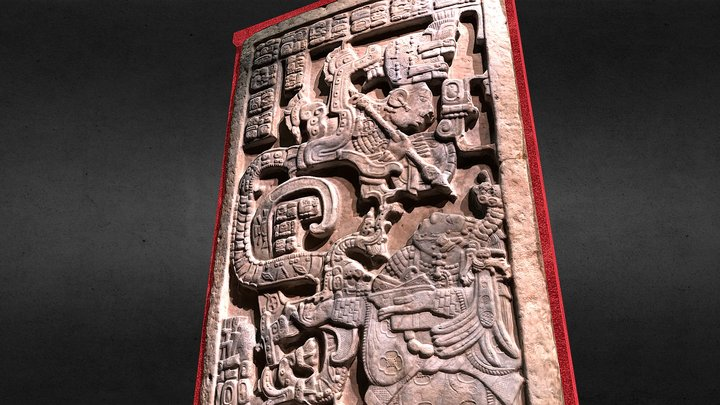 The Yaxchilan Lintels (Lintel nº 25) 3D Model