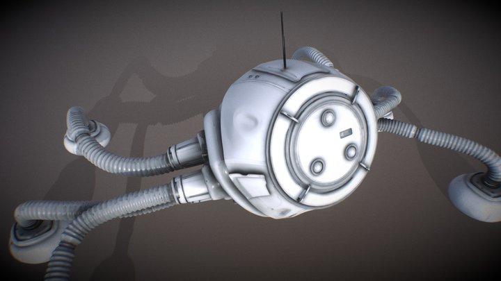 Quad Pod Walker Arctic Vehicle 3D Model