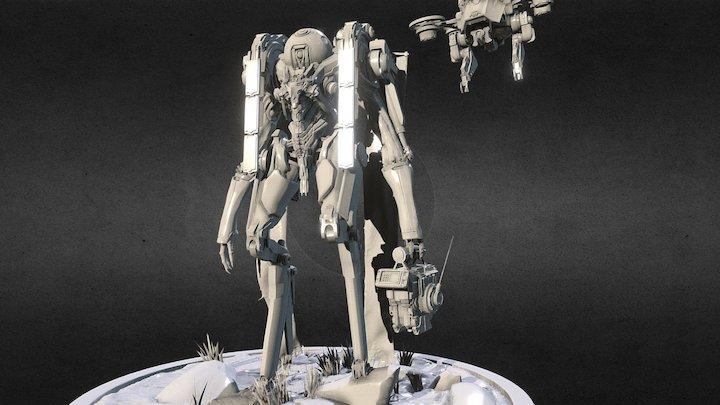 Invasion #2 - Low poly version 3D Model