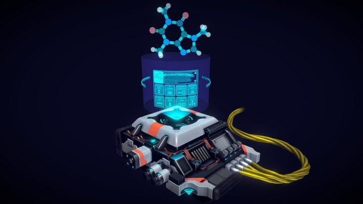 Sci-Fi Analyzer unit 3D Model