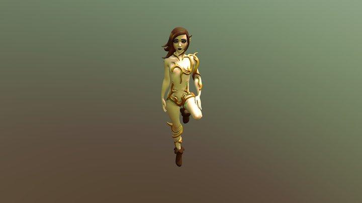 Tree Spirit Girl 3D Model
