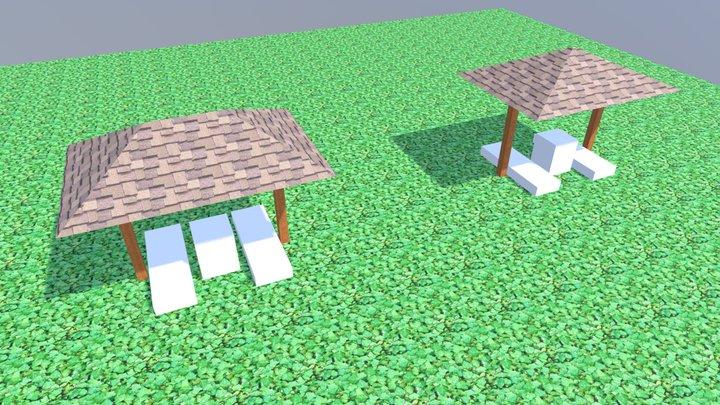 """Пляжный гриб """"Осиново"""" 3D Model"""
