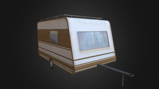 Old trailer 3D Model