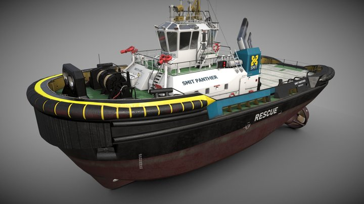"ASD Tug 3213 ""Smit Panther"" 3D Model"