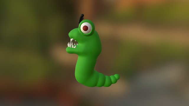 Angry Worm (fixed) 3D Model