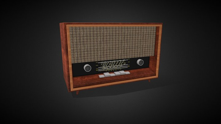 Carmen 3 S-632A2 Radio 1963 3D Model