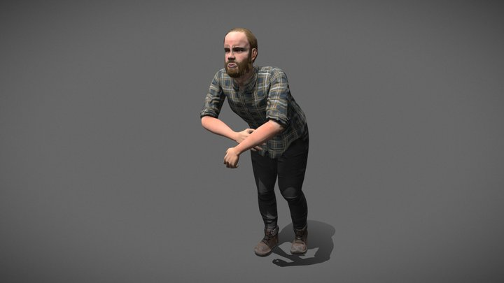 Pale Dale, High Poly Character 3D Model