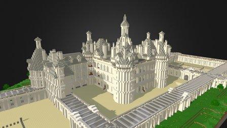 Castle Chambord 3D Model