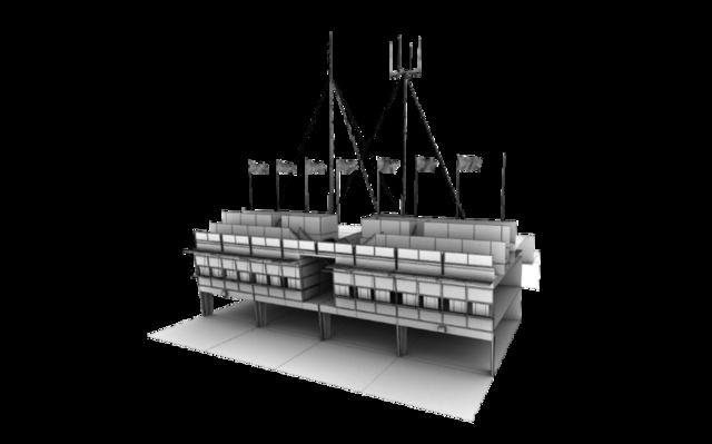 Melbourne Pit 3D Model