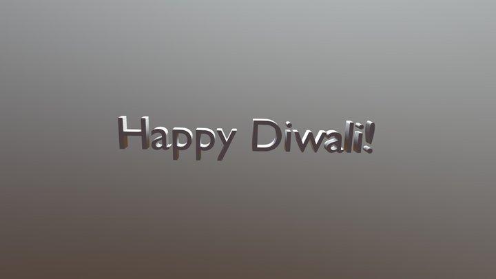 Happy Diwali 3D Text 3D Model