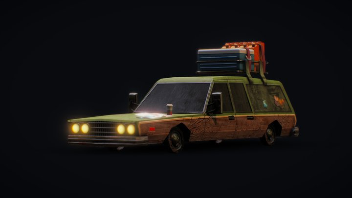 The travel car 3D Model