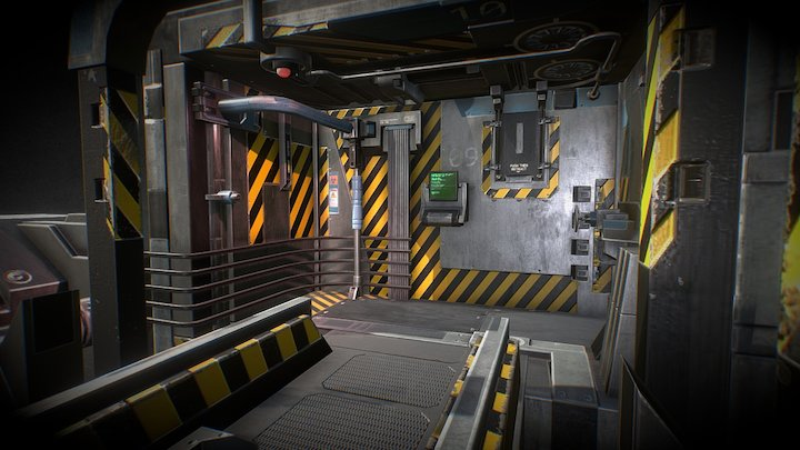 Unreal_VR_Room_01 3D Model
