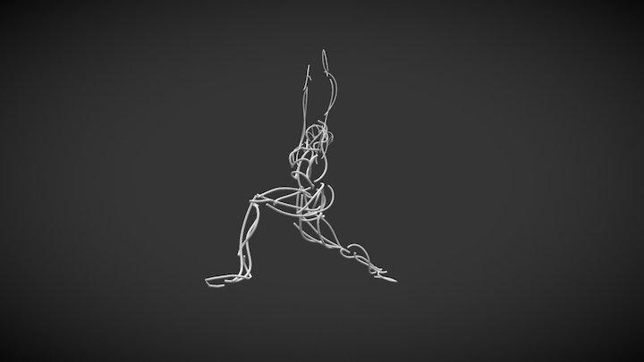 Yoga Woman 3D Model