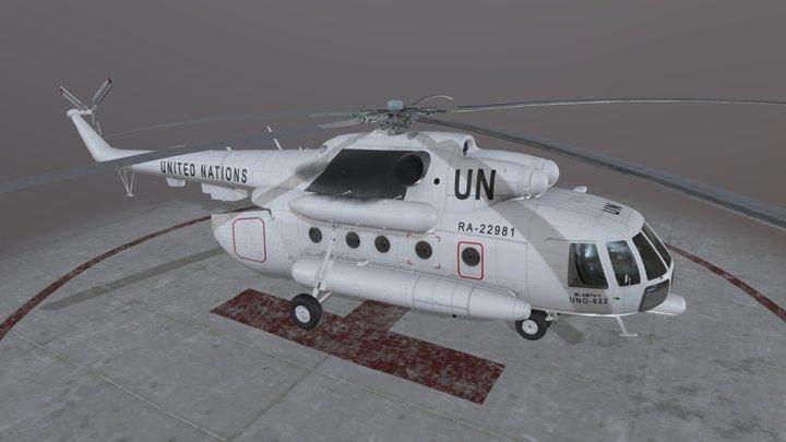 Mi-8MTV United Nations Animated 3D Model