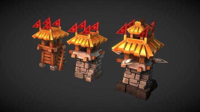 Archer Tower Level 1-3 3D Model