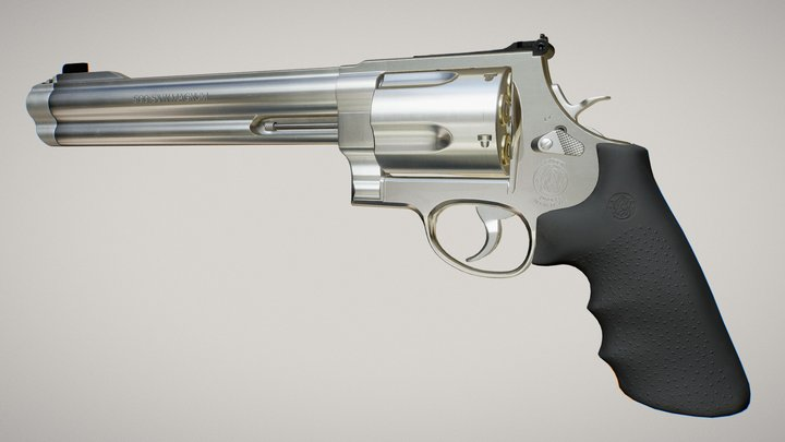 Smith & Wesson 500 Magnum 3D Model