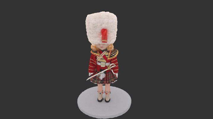 Toy of English Guard 3D Model