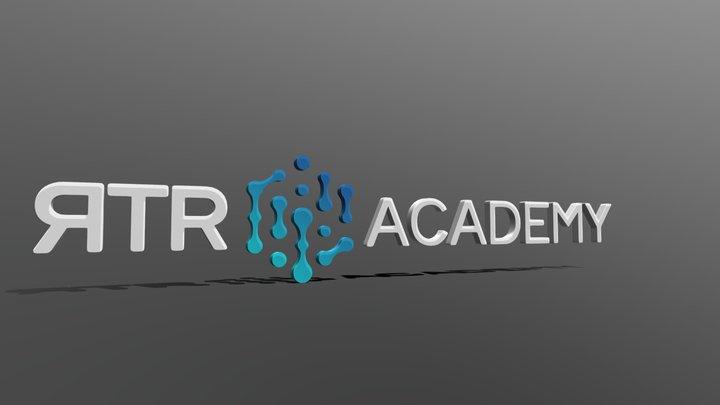 RTR Academy 3D Logo 3D Model
