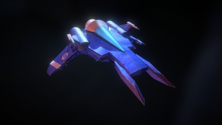 Athenian Space Fighter MK7 3D Model