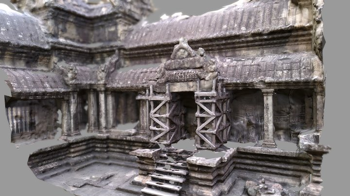 Angkor Wat patio 3D Model