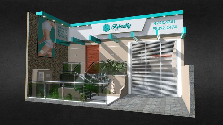 Admilly 3D Model