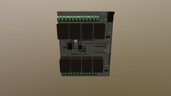 Реле 16-ти канальное 3D Model