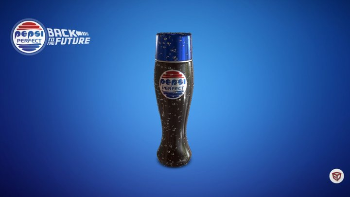 Pepsi Perfect - Retour vers le futur 3D Model