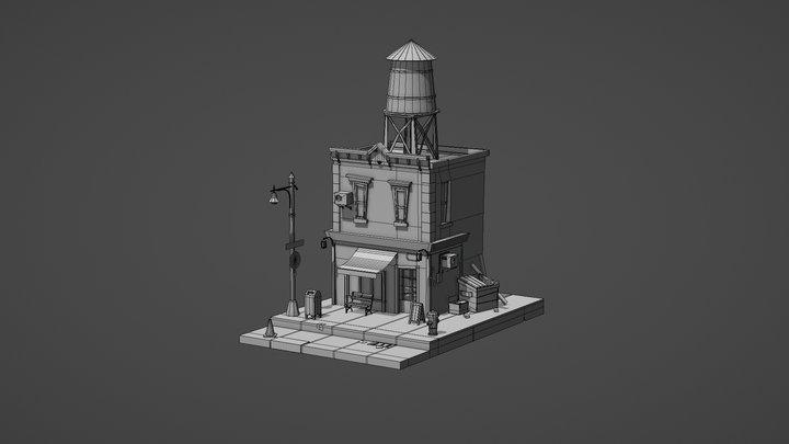 NYC Cafe OLD 3D Model