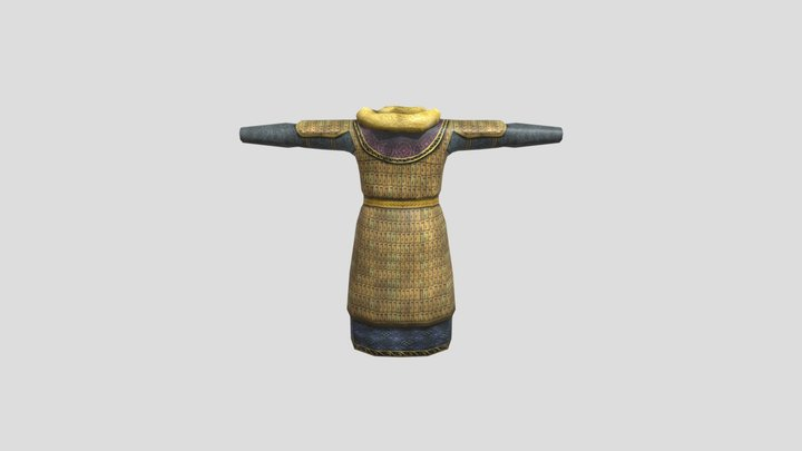 Sanjar Khan Armor (rigged) 3D Model