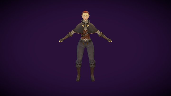 Infinite Runner- Vigilante 3D Model