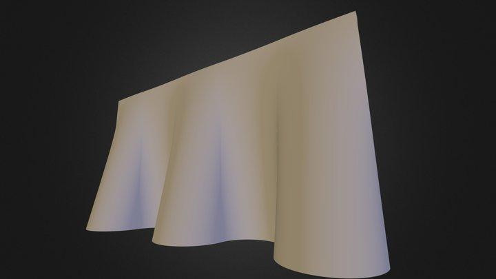 Muro creado en Revit 3D Model