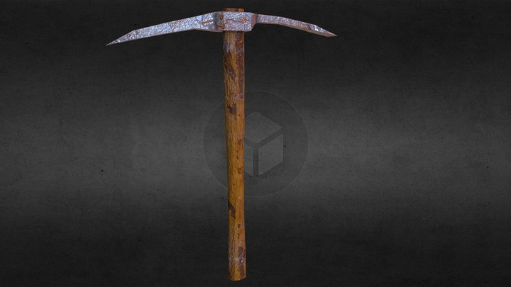 Old Pickaxe (Low Poly) 3D Model