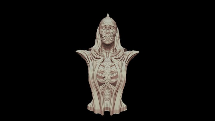 Ghost Bust Small 3D Model