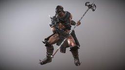 Longilk Barbarian 3D Model