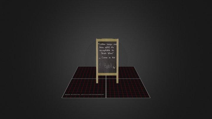 Examen 3D Prop ChalkBoard 3D Model