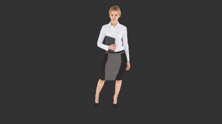 Business Woman Standing 3D Model