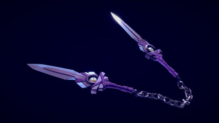 Dual Blades of dark Magick 3D Model