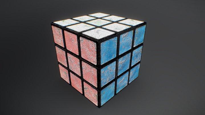 Rubik's Cube Worn (Puzzle Cube) 3D Model