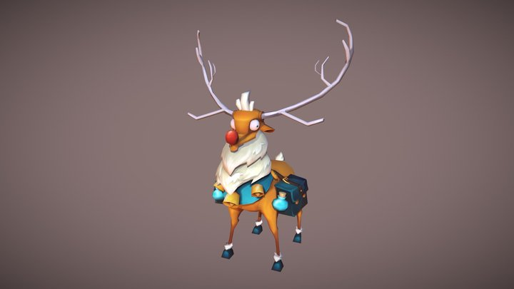 Lowpoly_Hand-painted_Character_Redolph 3D Model