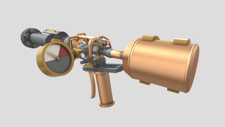 Pipe Revolver (Unfinished) 3D Model