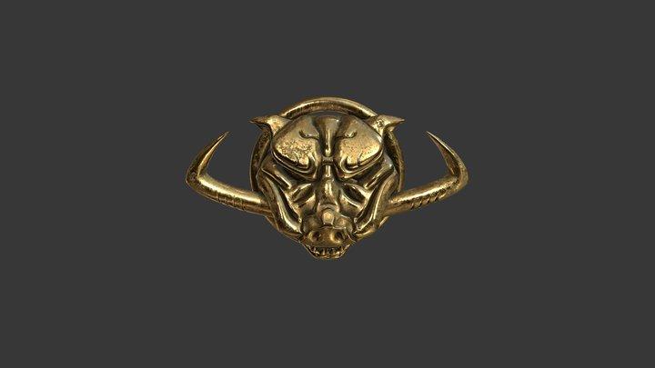 Boar Medallion 3D Model