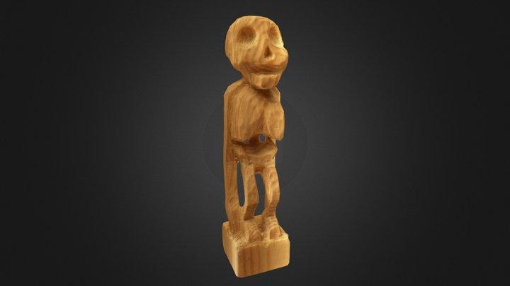 Wood Skeleton 3D Model