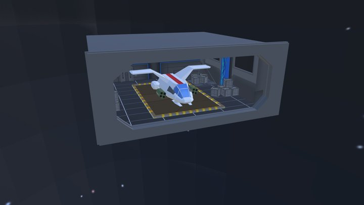 Space Ship Hanger 3D Model