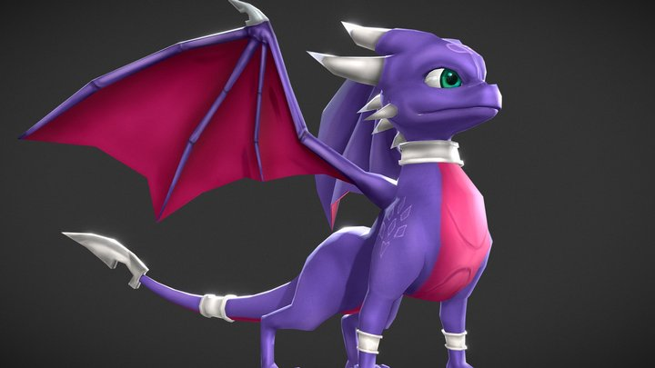 Cynder the dragon 3D Model