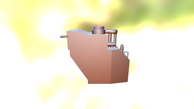 Mishimoto Camaro Expansion Tank Prototype 3D Model