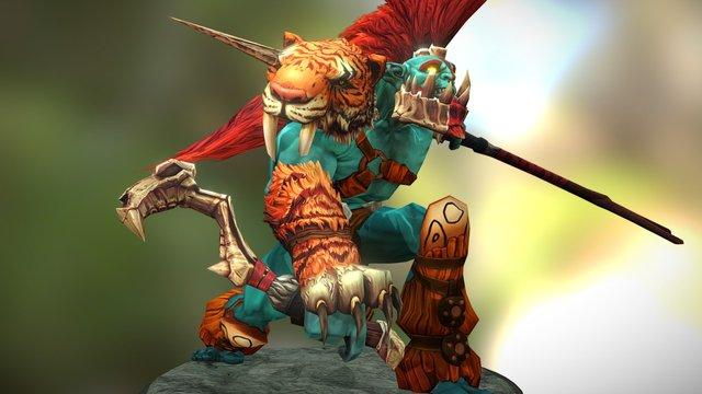 Huskar Custom Set - Slayer of the Fearsome 3D Model